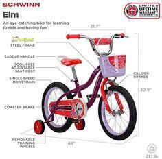 Schwinn Elm Girls Bike for Toddlers and Kids - BikeAddicts Best Kids Bike, Female Cyclist, Bicycle Accessories, Bike Parts, Fixed Gear, Cycling Gear, Bike Life, Bmx, Toddlers