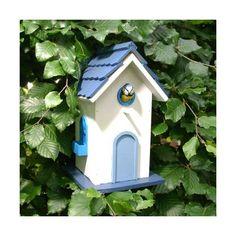 Nichoir maison à oiseaux Scandinave blanche ambiance