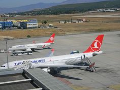 İzmir Adnan Menderes Airport Turkish Airlines, Tourism, Aircraft, Turismo, Aviation, Planes, Airplane, Travel, Airplanes