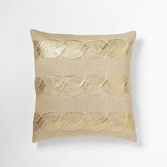 pillow love! | Gilded Cable Pillow Cover Gold + Westelm