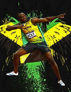 Usain Bolt Olympics, Vs The World, Lightning Bolt, Track And Field, Olympians, World History, Good Music, Athlete, Digital Art
