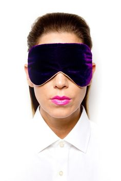 Purple Velvet Eye Mask