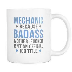 Mechanic mug - Badass Mechanic-Drinkware-Teelime | shirts-hoodies-mugs