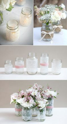 get creative with these 44 diy mason jar crafts. you don't need advanced carpentry skills to get started with diy mason jar crafts check out the best design ideas and create your own decoration. Pot Mason Diy, Mason Jar Crafts, Mason Jars, Pots Mason, Craft Wedding, Diy Wedding, Rustic Wedding, Wedding Ideas, Wedding Backyard