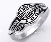 Harley Davidson 100 Anniversary Ring 316L Stainless Men's 11 1/4 Women's Jewelry Biker Motorcycles