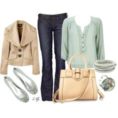 Mint & Beige, created by uniqueimage