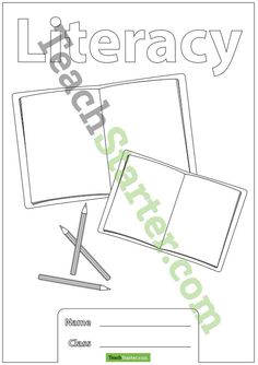 Literacy Book Cover | Teach Starter