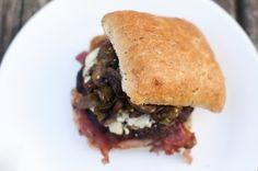 divianconner: Bleu Cheese Jalapeno & Mushroom Burger....