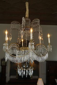 Fine Late 18th Century Baltic Six-Light Ormolu and Cut-Glass Chandelier | From a…