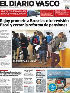 Los Titulares y Portadas de Noticias Destacadas Españolas del 6 de Junio de 2013 del Diario Vasco ¿Que le parecio esta Portada de este Diario Español?