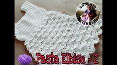 PASTA ELBİSE - 2 (TIĞ İŞİ) - YouTube Crochet Bebe, Knit Crochet, Crochet Hats, Pullover, Crochet Patterns, Baby Dresses, Make It Yourself, Knitting, Youtube
