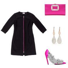 Zoe Zipper Nursing Dress with Balenciaga heels and Roger Vivier clutch,.
