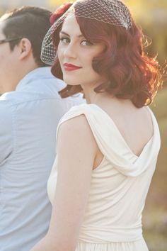 Vintage Hairstyle Brides (Red-Head)