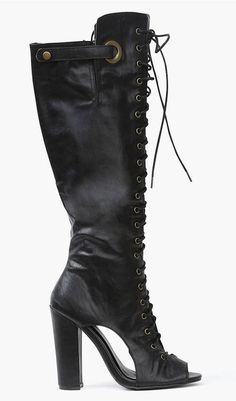 Sexy Lace Up Boots in Black ♥
