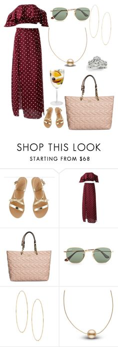 """The Acharya Family Barbeque- Passion"" by jporter2 ❤ liked on Polyvore featuring Ancient Greek Sandals, Karl Lagerfeld, Ray-Ban, Lana and Allurez"