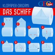 Origami mit Klopapier - lustige Bastelanleitungen!