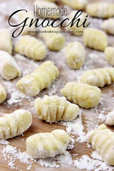 Homemade Gnocchi - an Italian potato dumpling that is easy to make at home and tastes great in your favorite recipes! #Italian #PotatoRecipe...
