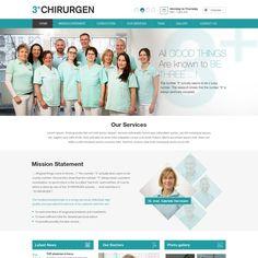 Erstelle ein neues WordPress Designs (Redesign) f眉r die Arztpraxis 3Chirurgen aus Berlin by win2010