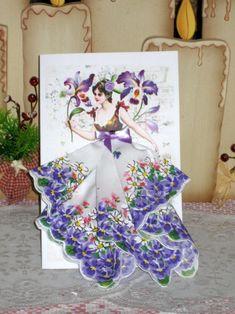 Orchid Fairy Keepsake Hanky Card by onceuponahanky on Etsy