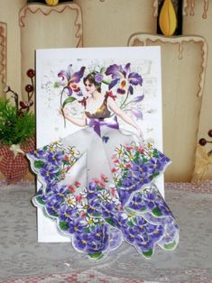 Orchid Fairy Keepsake Hanky Card by onceuponahanky on Etsy
