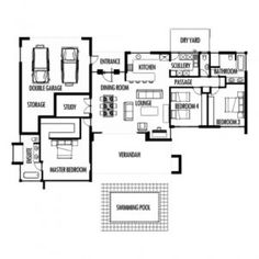 Brilliant House Plan For 17 Feet By 45 Feet Plot (Plot Size 85 Square Yards Duplex House Plan Image – House Floor Plan Ideas Duplex House Plans, Luxury House Plans, Modern House Plans, House Floor Plans, 3 Room House Plan, Three Bedroom House Plan, South African Homes, African House, Free House Plans