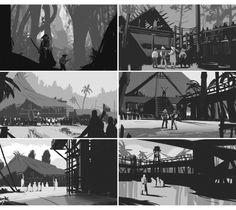 quick thumbnails, done at Brainstorm school Landscape Sketch, Landscape Concept, Landscape Illustration, Fantasy Landscape, Drawing Tutorials, Art Tutorials, Brainstorm School, Environment Sketch, Thumbnail Sketches