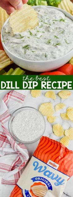 Dill Dip + Planning the Perfect Tailgate Party! This Dill Dip is the perfect easy appetizer to make for any party! It comes together with just a few ingredients and it is amazing served with chips or veggies. Make this Dill Dip Recipe for your next get to Easy To Make Appetizers, Appetizers For Party, Appetizer Recipes, Easy Appetizer Dips, Dip Recipes For Parties, Easy Party Dips, Easy Dips To Make, Camping Appetizers, Veggie Appetizers