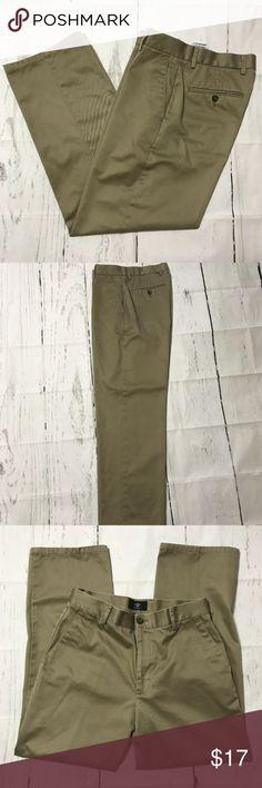 "Dockers Pants Khaki Casual Flat Front Sz 31x30 Brand: Dockers Color: Khaki Size: 31 x 30 on tag Material: 100% Cotton  Measurements Waist: 32"" Inseam: 29"" Rise: 11"" Leg Opening: 9"" Length: 39 1/2"" Dockers Pants Chinos & Khakis"