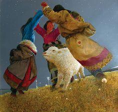 32 (550x521, 92Kb)..Wang Yi Guang and flying spirits of Tibet