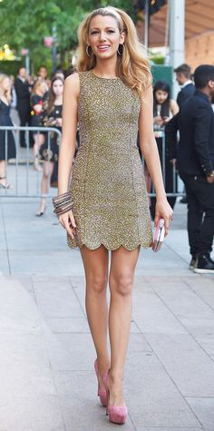 Blake Lively's Red Carpet Style - In Michael Kors, 2014 - from InStyle.com