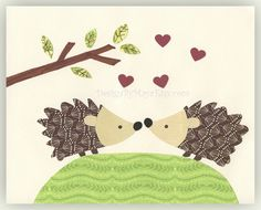 love hedgehogs...@Amy Dunham, think D would go for this as your invites?