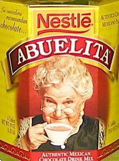 """Pinner says: """"I like to make my Abuelita a little more concentrated than it says on the package, and then I fill a tall mug with half coffee and half delicious Mexican hot chocolate."""" (i have never tried it this way, but do love some abuelita! Chocolate Abuelita, Nestle Chocolate, Mexican Hot Chocolate, Chocolate Bars, Mexican Heritage, Mexican Style, Mexican Food Recipes, Snack Recipes, Mexican Dishes"""