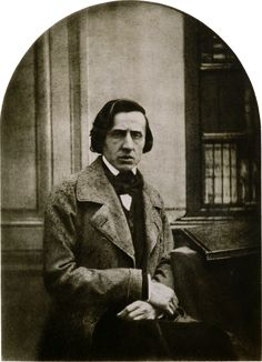 The only known photograph of Chopin, circa 1849. Photograph by Louis-Auguste Bisson.