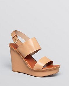 Tory Burch Open Toe Platform Wedge Sandals
