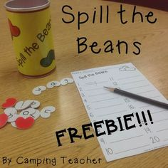 Spill the Beans Game Freebie!!! I love how I can adapt this game for language arts or math! Make some words, practice some addition or multiplication. It can be used in kindergarten for sight words up to third grade to practice multiplication in math. Enjoy this freebie!