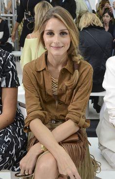 Olivia Palermo: Front Row At Delpozo Spring 2015 #nyfw