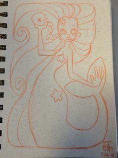 Lunch sketch: Mermaid