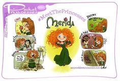 (151) Merida [feat. Mulan & Tiana] (Drawing by PocketPrincesses @Facebook) #Brave #Mulan #ThePrincessAndTheFrog