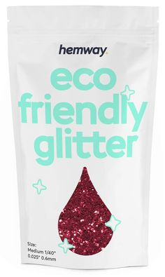 """Hemway Eco Friendly Biodegradable Glitter 100g / 3.5oz Bio Cosmetic Safe Sparkle Vegan for Face, Eyeshadow, Body, Hair, Nail and Festival Makeup, Craft - 1/40"""" 0.025"""" 0.6mm - Red *** Read more at the image link. (As an Amazon Associate I earn from qualifying purchases) Queen Makeup, Natural Eyebrows, Festival Makeup, Body Makeup, K Beauty, Red Glitter, Biodegradable Products, Eco Friendly, Image Link"""