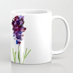 Lavender sprigs Coffee Mug by wildseadesign Make Art, Wraparound, Microwave, Dishwasher, Coffee Mugs, Lavender, Cups, Construction, Ceramics