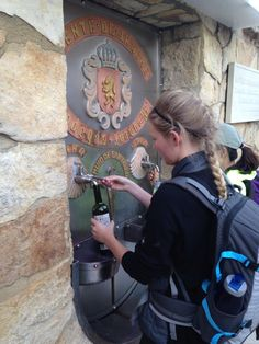 Drink water frequently on the Camino de Santiago.