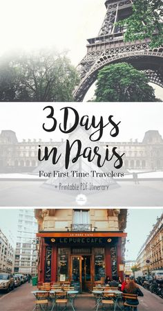 3 Days in Paris Itinerary. What should you do on your first time in Paris? Download this free PDF Printable Itinerary for your perfect 3 days in Paris. #France #Paris #Travel