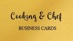 A collection of girly cooking and chef business cards just for women, ranging from cooking teachers and personal chefs.