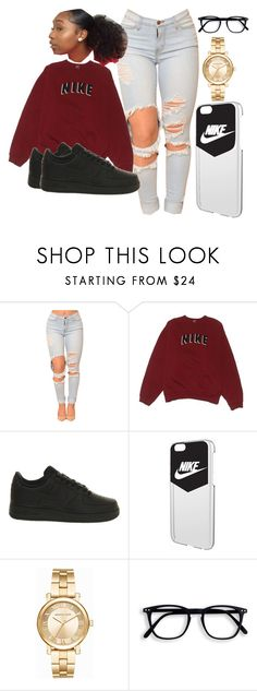 """""""Nike✔️"""" by nkhelj ❤ liked on Polyvore featuring NIKE and Michael Kors"""