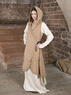 e3fc21086afe4 Wickelkleid Dala aus Baumwolle hellbraun