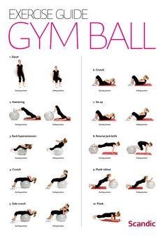 pilatesboll övningar - Sök på Google