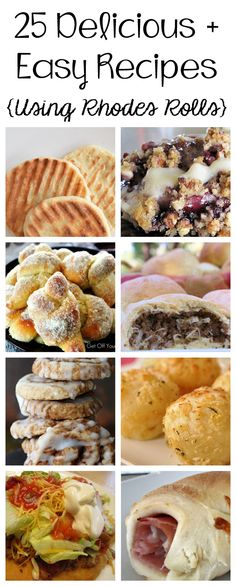 25 Delicious & Easy 25 Delicious & Easy Recipes Using Rhodes Rolls! If you thought that rolls were the only thing to make with those frozen dough balls happily you are mistaken! Rhodes Dinner Rolls, Rhodes Rolls, Easy Meals, Easy Recipes, Cooking Recipes, Batch Cooking, Amazing Recipes, Bread Recipes, Frozen Dinner Rolls