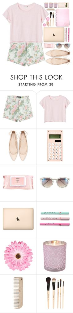 """-Pink-"" by elizabeth-stephanie ❤ liked on Polyvore featuring Monki, Zara, Mamonde, Vince Camuto, ban.do, NLY Accessories, HAY, Gorgeous Cosmetics, Forever 21 and floral"
