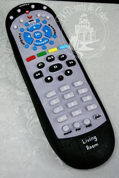 Hand-carved cake decorated like a remote control for the groom who loves his television! Pretty Cakes, Cute Cakes, Beautiful Cakes, Amazing Cakes, Unique Cakes, Creative Cakes, Fathers Day Cake, Different Cakes, Cakes For Men