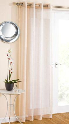 Marrakesh Net Voile Curtain Panel Eyelet Ring Top Sparkle Glitter Effect Cheap